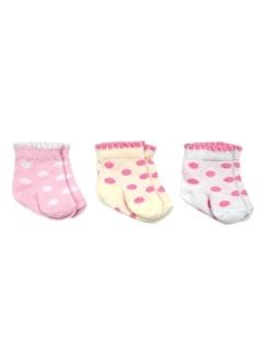 Bebengo Bebengo 3'Lü Soket Kız Bebek Çorabı 9518